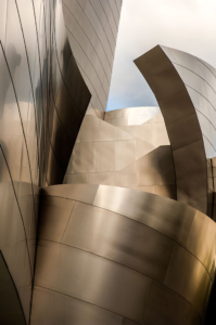 Disney hall in downtown Los Angeles is photographed by advertising photographer, John Ussenko.