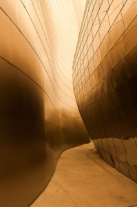 Disney concert hall in downtown Los Angeles is photographed by advertising photographer, John Ussenko.