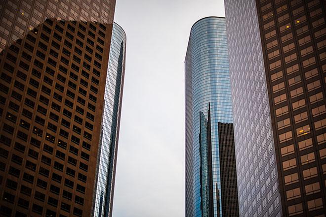 The beautiful buildings of DTLA captured by commercial photographer, John Ussenko.