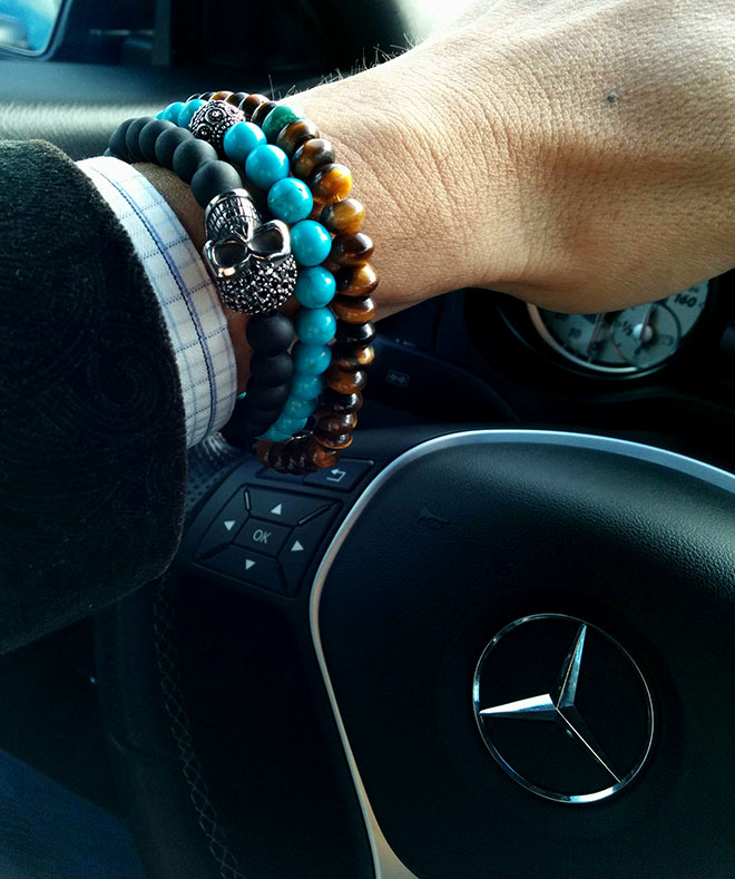 Braclets and Benz photographer by fashion and lifestyle photographer, John Ussenko in Orange County.