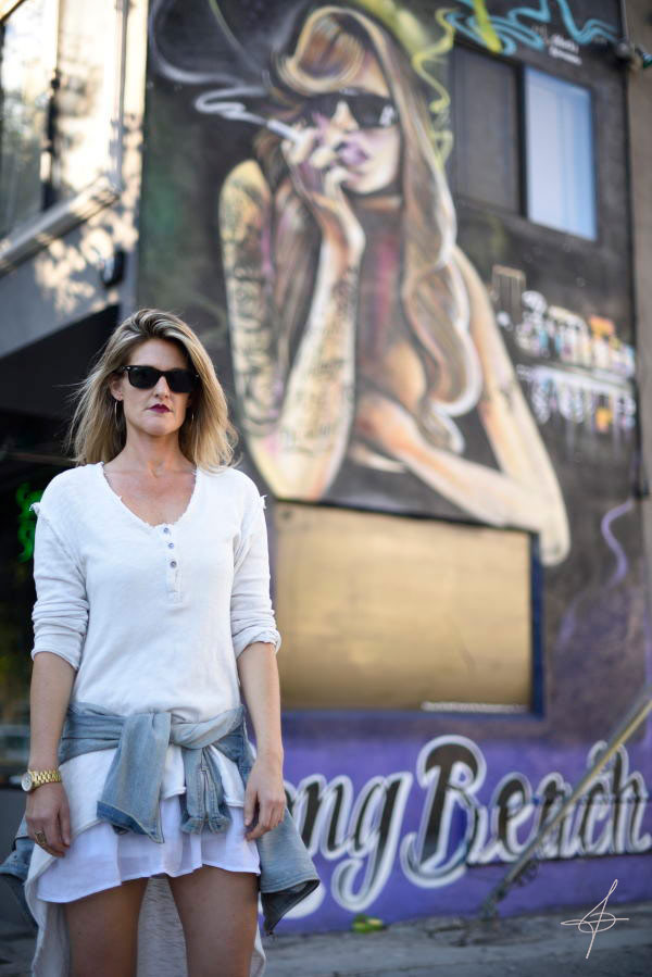 Lifestyle fashion photographer john ussenko on location in Long Beach, CA.