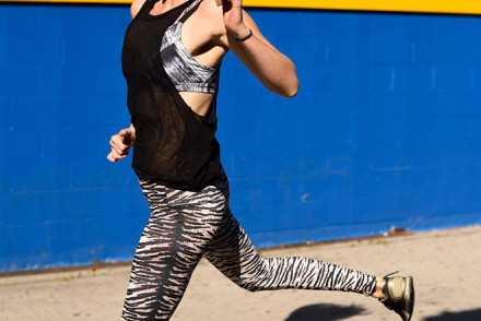 Active wear photo shoot in Venice Beach with model janelle carroll and street fashion photographer, John Ussenko.