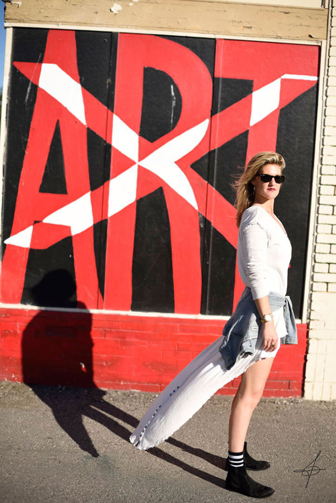 Street fashion photographer John ussenko on location in Long Beach, CA.