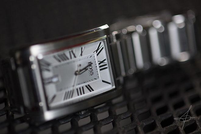 Stainless Steel Hugo Boss Watch by photographer John Ussenko in Orange County.