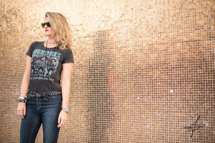 Rocker lifestyle fashion shoot with fashion photographer John Ussenko on location in downtown Laguna Beach.