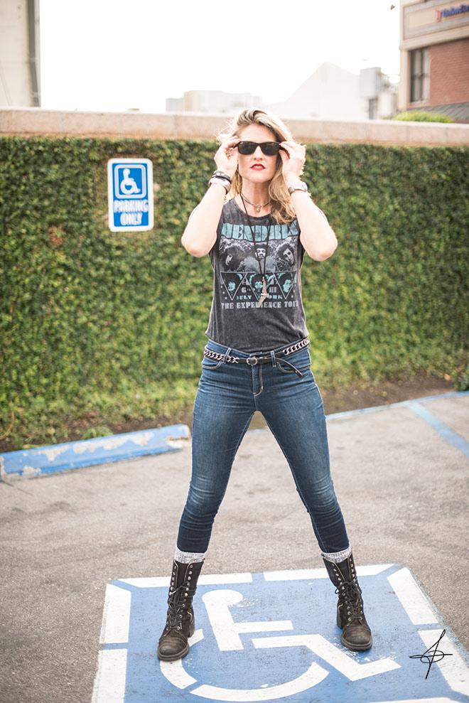 Orange County rocker lifestyle fashion shoot with fashion photographer John Ussenko on location in Laguna Beach, CA.