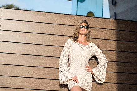 Fashion shoot in Laguna Beach with fashion photographer, John Ussenko and model Janelle Carroll.