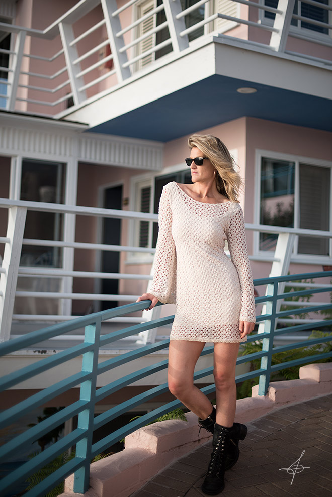 Lifestyle fashion photographer, John Ussenko on location in Laguna Beach with model Janelle Carroll.
