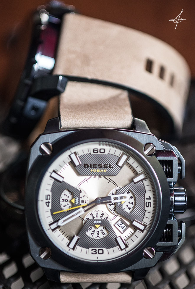 Accessory fashion photo shoot with Diesel 10 Bar watch and lifestyle photographer, John Ussenko in Orange County.