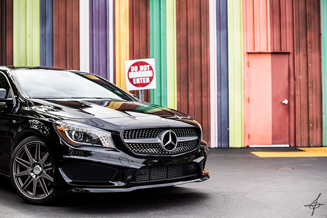 Classic front photo of a Carlsson Mercedes by lifestyle photographer, John Ussenko at the Lab in Costa Mesa.