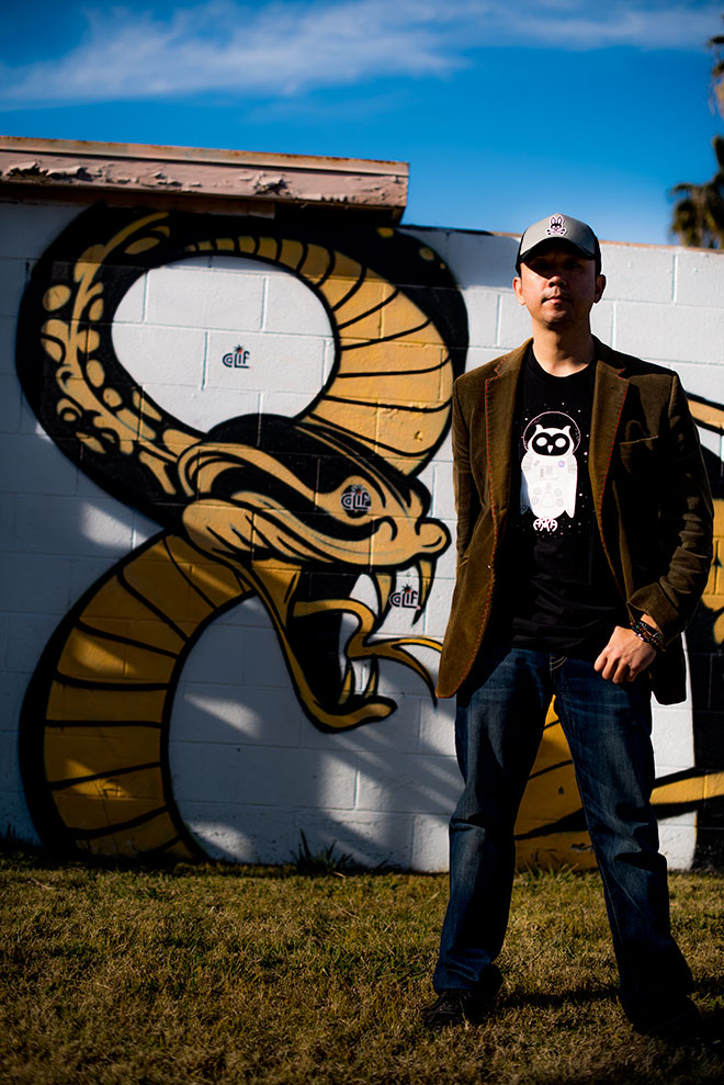 Graffiti mural photographed by edgy street fashion photographer, John Ussenko on location during a fashion shoot in Seal Beach.
