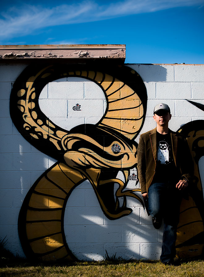 Arka Clothing Street fashion photographer, John Ussenko during a photo shoot in Seal Beach, SoCal.